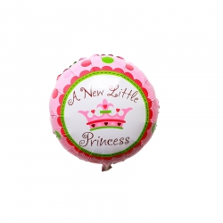 Baby Shower Princess Round (Pink)