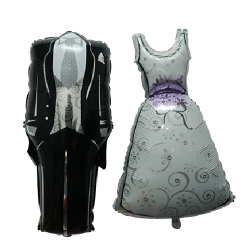 Pair Wedding suit and gown Helium