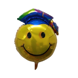 Graduation Smiley design 1 Helium