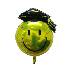 Graduation Smiley design 2 Helium