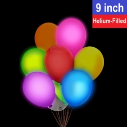9'' LED Round Latex Balloon (Helium-Filled)