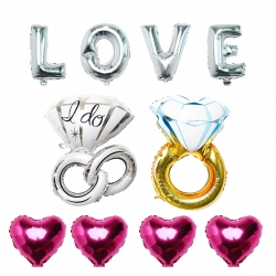 Eternal Love with Rings and Hearts