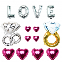 Loving Paired Hearts with Rings