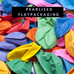 "(Bundle of 80) 12"" Round Pearlised Colours Latex Balloon"
