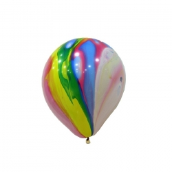 "12"" Marble Rainbow Latex Balloon"