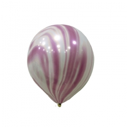 "12"" Marble Purple and White Latex Balloon"