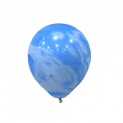 "12"" Marble Blue and White Latex Balloon"