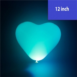 12'' LED Heart Shape Latex Balloon