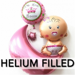 Helium Filled Baby Shower Foil Balloon Set 2