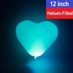 12'' LED Heart Shape Balloon (Helium-Filled)